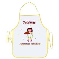 Tablier enfant Apprentie cuisinière personnalisé avec prénom
