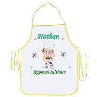 Tablier enfant Apprenti cuisinier personnalisé avec prénom