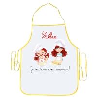 Tablier enfant Je cuisine avec maman personnalisé avec prénom