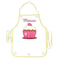 Tablier enfant Cupcake personnalisé avec prénom
