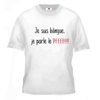 Tee shirt pour Ado humour Je suis bilingue, je parle le Pffffff