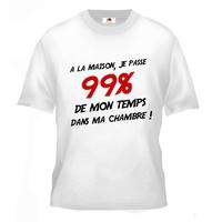 Tee shirt pour Ado 99% du temps dans ma chambre