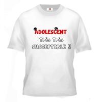 Tee shirt pour Adolescent Humour Très Très Susceptible !!
