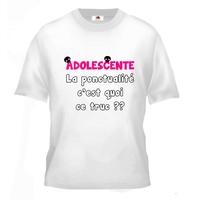 Tee shirt pour Adolescente Humour La ponctualité c'est quoi ce truc ??
