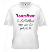 Tee shirt pour Adolescente Humour 0 révélation sur ma vie privée !