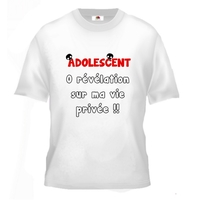 Tee shirt pour Adolescent Humour 0 révélation sur ma vie privée !