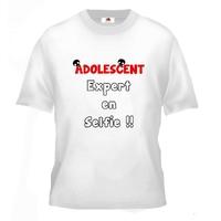 Tee shirt pour Adolescent Humour Expert en selfie !!