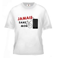 Tee shirt pour Ado Jamais sans mon téléphone portable