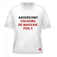 Tee shirt pour Adolescent Humour Toujours de mauvais poil