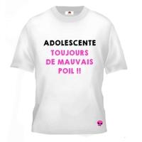 Tee shirt pour Adolescente Humour Toujours de mauvais poil