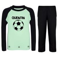 Pyjama enfant Ballon de football personnalisé avec prénom