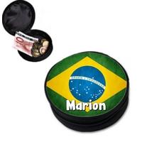 Porte monnaie Brésil personnalisé avec prénom