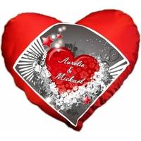 Coussin coeur Amour personnalisé avec prénoms