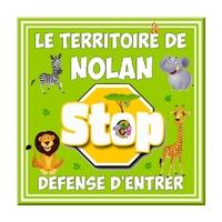 Plaque de porte Animaux Stop Défense d'entrer personnalisée avec prénom au choix