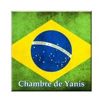 Plaque de porte Brésil personnalisée avec prénom