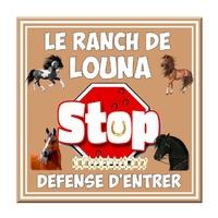 Plaque de porte Cheval Chevaux Stop Défense d'entrer personnalisée avec prénom au choix