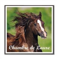 Plaque de porte Cheval personnalisée avec prénom