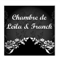 Plaque de porte Baroque personnalisée avec prénom