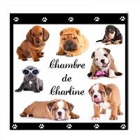 Plaque de porte Chiens chiots personnalisée avec prénom