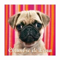 Plaque de porte Chien Carlin personnalisée avec prénom