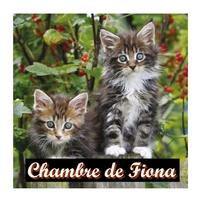 Plaque de porte Chatons personnalisée avec prénom
