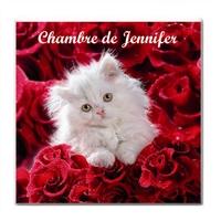 Plaque de porte Chaton personnalisée avec prénom