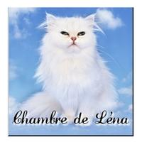 Plaque de porte Chat personnalisée avec prénom