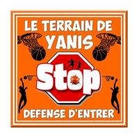 Plaque de porte Basketball Stop Défense d'entrer personnalisée avec prénom au choix
