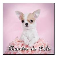 Plaque de porte Chien Chihuahua personnalisée avec prénom