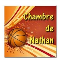Plaque de porte Basketball personnalisée avec prénom
