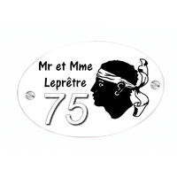 Plaque de maison Corse personnalisée avec votre texte et numéro