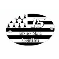 Plaque de maison Bretagne personnalisée avec votre texte et numéro
