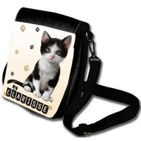 Sac à bandoulière Chat chaton personnalisé avec prénom