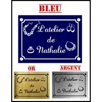 Plaque Atelier de bijoux personnalisée avec prénom