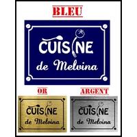 Plaque de rue CUISINE personnalisée avec prénom