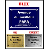 Plaque de rue Le meilleur papa personnalisée avec prénom