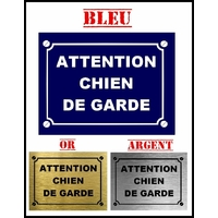 Plaque de rue ATTENTION CHIEN DE GARDE