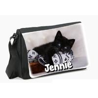 Sac à bandoulière Chat chaton personnalisé avec le prénom de votre choix