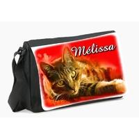 Sac à bandoulière chat personnalisé avec le prénom de votre choix