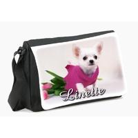 Sac à bandoulière Chihuahua personnalisé avec le prénom de votre choix