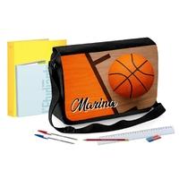 Sac Cartable à bandoulière Basketball personnalisé avec prénom