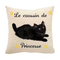 Coussin pour chat Angora personnalisé avec le nom de votre animal