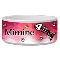 Gamelle ecuelle pour chat personnalisée avec le nom de votre animal