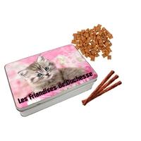 Boite à friandises pour chat personnalisée avec prénom au choix
