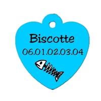 Médaille pour chat bleu personnalisée avec nom, numéro de téléphone....