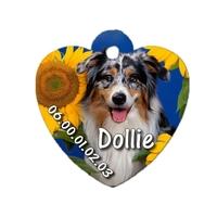 Médaille coeur pour chien Berger australien personnalisée avec nom, numéro de téléphone