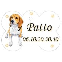 Médaille pour chien Beagle personnalisée avec nom, numéro de téléphone