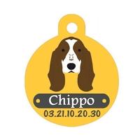 Médaille pour chien Basset personnalisée avec nom, numéro de téléphone