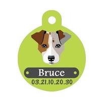 Médaille pour chien Jack russel personnalisée avec nom, numéro de téléphone