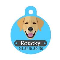 Médaille pour chien Golden retriever personnalisée avec nom, numéro de téléphone
